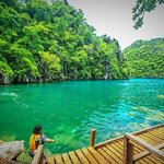 Kayangan lake w wooden stairs
