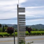 Handy signpost to wineries