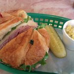 Turkey & Swiss Croissant w/Potato Salad - So Delicious!