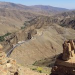 "Quarzazate day trip."".winding road through the Atlas mountings""."