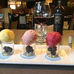 Such creative presentation of sorbet