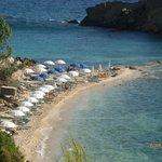 hotel's private beach