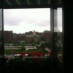 View from Room 614 (farmer market below room)