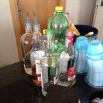 les alcools du bar all inclusive !!!!   la honte.