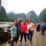 Peter family at Li-River.