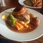 Roast beef dinner in the Market Pub