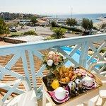 Petit-Déjeuner sur le balcon chambre