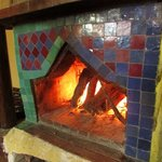 Fire lit to warm us before leaving the riad
