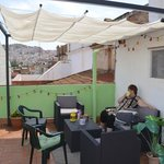 Roof top terrace under the sun shade