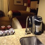 Rooms come with Keurig and additional sink