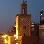 View from a restaurant of Djemaa el-Fna