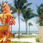 White sand beach with Mayan influences