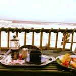 Breakfast on the Beach House terrace