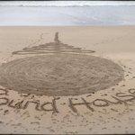 Paul's handiwork on the beach