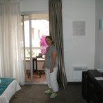 clarté de la chambre avec balcon