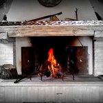 Il camino. The fireplace