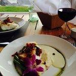 Okapa fish with asparagus and mash potato.