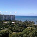 From the balcony towards the beach