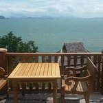 outside the room. Ocean View pool villa