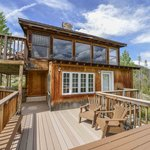 Fireside Cabin large deck