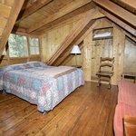 RiverBend Cabin Loft Bedroom