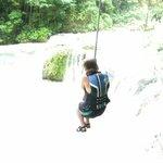 Elizabeth on the tree rope