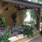 Breakfast area on the patio