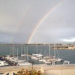 Dalla splendida terrazza sul mare del Grande Hotel Ortigia