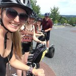 Family enjoys the Segway of Hershey Tour