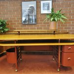 FLW-designed desk on view in tour area.