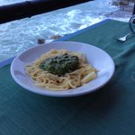 Spaghetti al pesto..!!