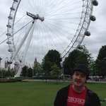 london eye and Joe, our guide