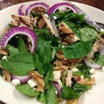 Grilled Chicken Salad with cranberries, walnuts