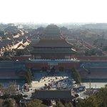 Pemandangan Forbidden City dari atas gunung