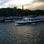 Seine River Cruise at dusk.