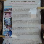 itinerary of our island tour with the hotel