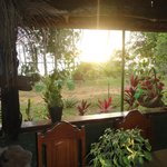 Sunset from the Anavilhanas Village dining room