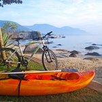 Bicicleta e caiaque para aluguel