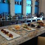 Food from the Brazos Bar & Bistro at Hotel Indigo Waco