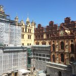 Construction work in the courtyard