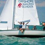Happy sailing course students off Captiva Island, Florida