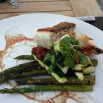 Parrot Fish with Zucchini and Asparagus