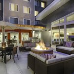 Outdoor patio with grill and fire pit