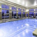 Heated indoor pool and whirlpool