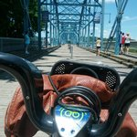 A sunny Fourth of July on the bike across the bridge!