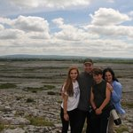 Our family hiking in The Burren