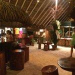 bar and food prep area