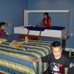 Old 2006 picture of the kids bed area at hotel. The kids loved that berth bed!