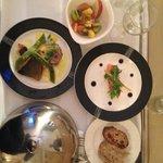 Le repas en chambre, magnifique, merci!!!!