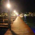 A romantic evening walk down the pier.
